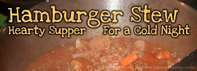Hamburger Stew for a cold winter's night