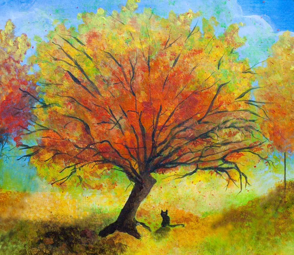 Dreaming amber jaime haney fine art for Autumn tree painting