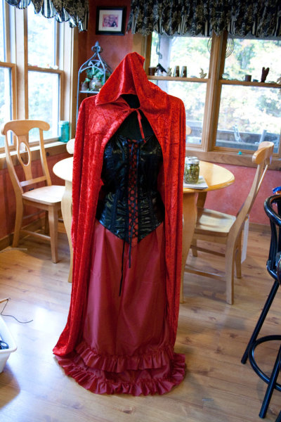photo of Halloween costume of female Red Death