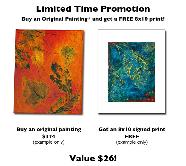 buy one original painting get a free signed print
