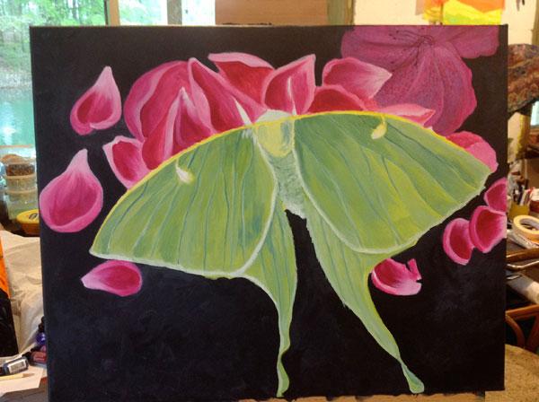 Luna Moth after a little refining - still a work in progress