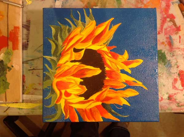 Sunflower work in progress