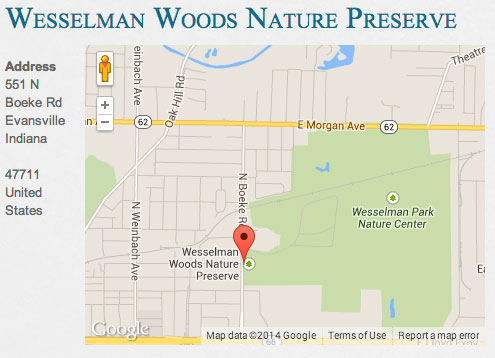Wesselman Woods Nature Preserve location