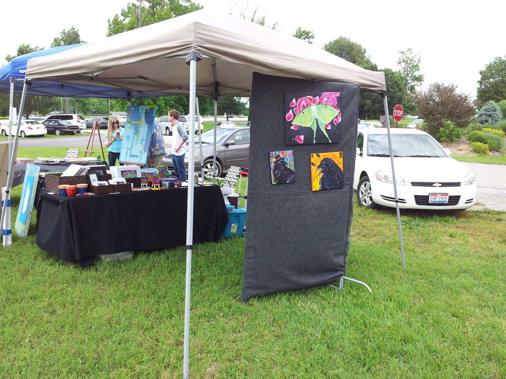 My booth at Art in the Park outside view