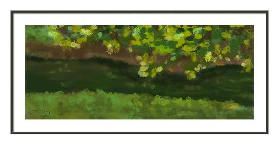 Summer lake view framed print
