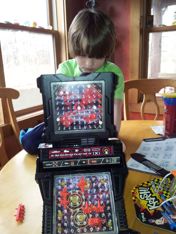 my opponent for Battleship the birthday boy