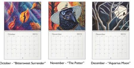 2015 Wall calendar October, November & December