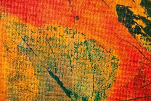 close up of abstract painting Warm Release