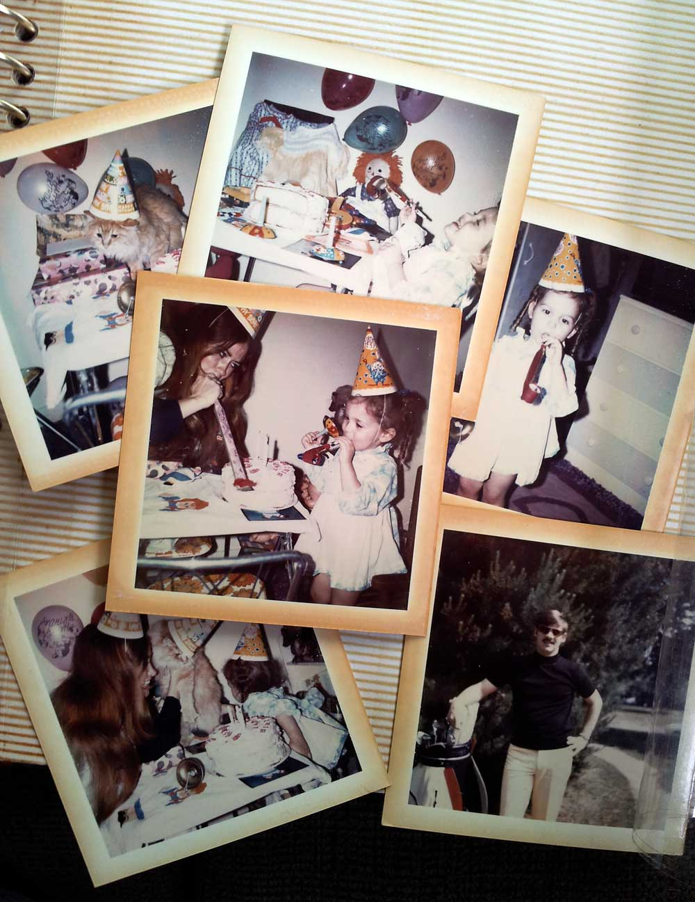 collage of birthday pictures from 1973
