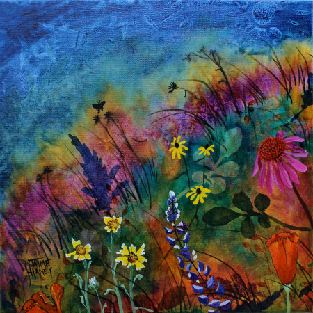 Abundant Blessings 1 wildflowers painting