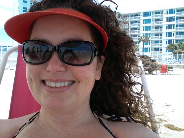 My beach selfie