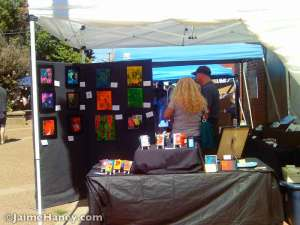 Jaime-Haney-art-booth-at-Funk-in-the-City-Fall-2014-1