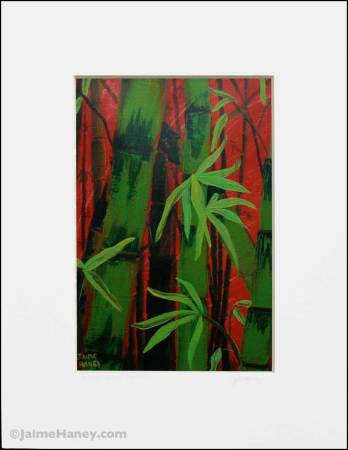 white matted print of Sultry Bamboo Forest
