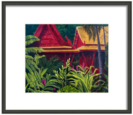 How Tropical Getaway might look framed in a simple contemporary black frame
