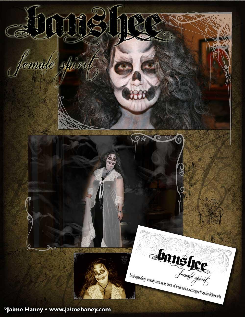 Banshee female spirit makeup tutorial part 3
