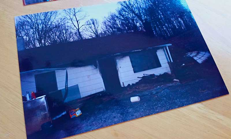 Our home in Marion, Kentucky after the fire