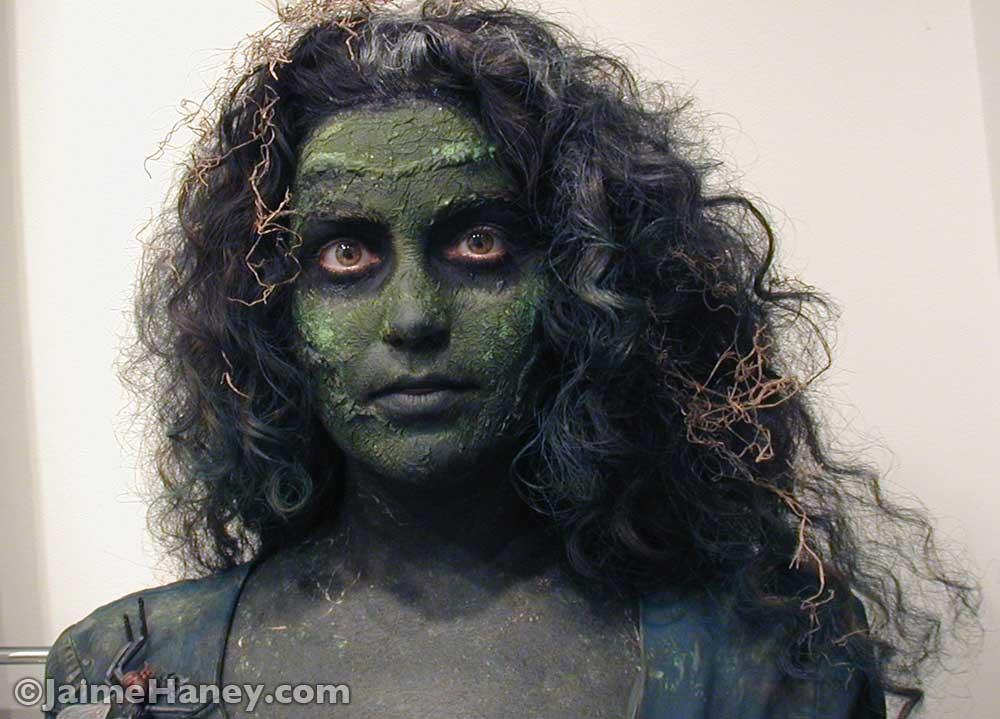 Swamp Zombie makeup