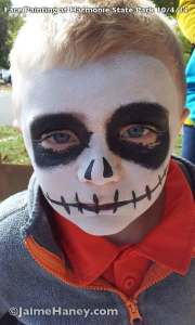 Jack Skeleton face paint