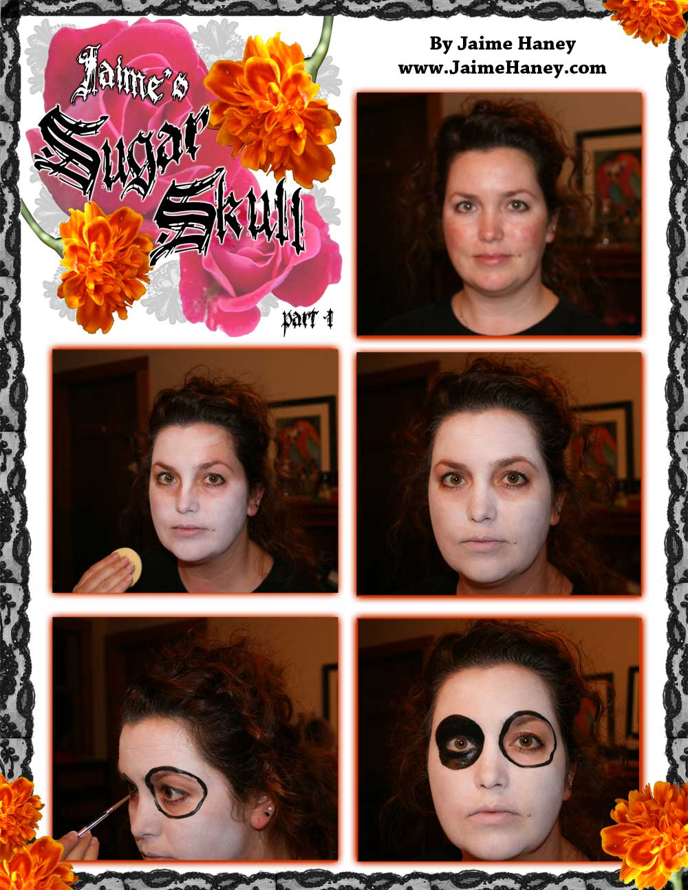Part 1 Sugar Skull makeup tutorial