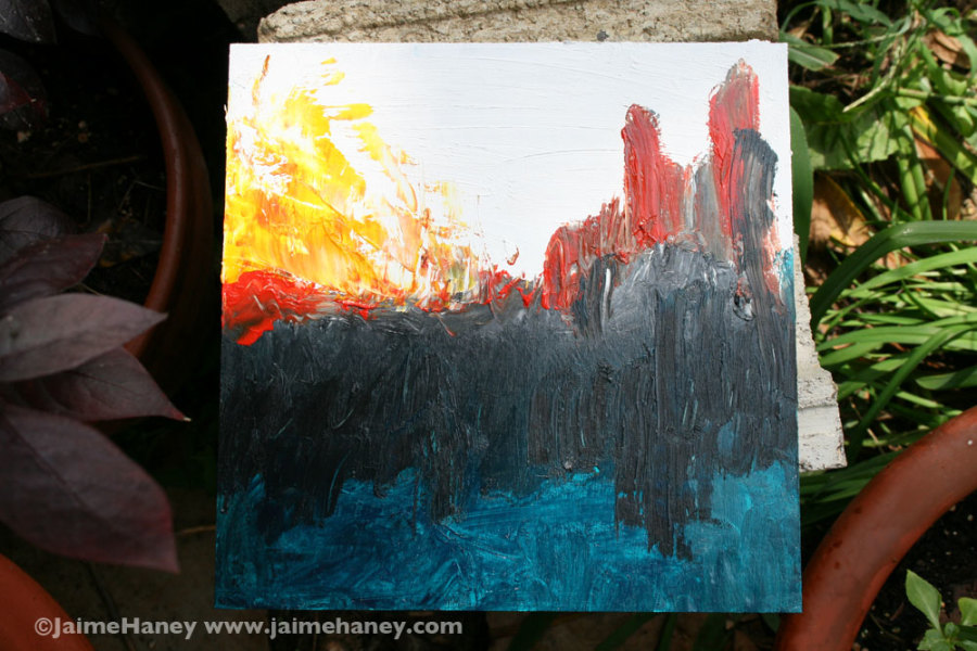 """Whole painting of """"Valley of the Shadow"""""""