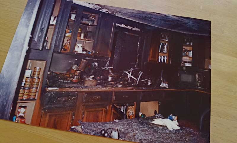 Kitchen after the fire