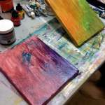 2 canvases started together