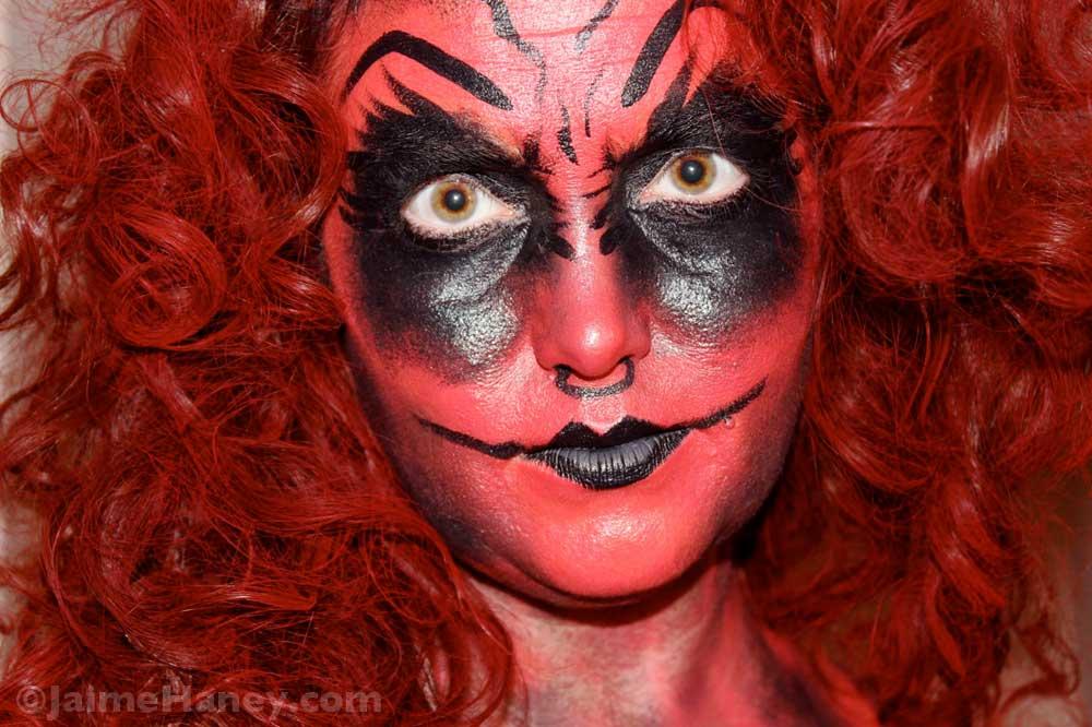 Step 7 - paint hair flamboyant red  sc 1 st  Jaime Haney & She Devil - my 2014 Halloween Costume Creation u0026 Tutorial - Jaime ...