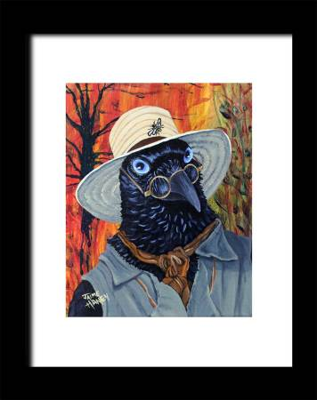 The Potter - raven economy print for 8.5x11 or 8x10 frame. Frame not included