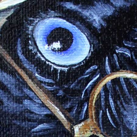 Upclose detail of 'The Potter's' eye
