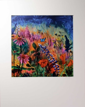 Wildflowers painting print titled Abundant Blessings 2