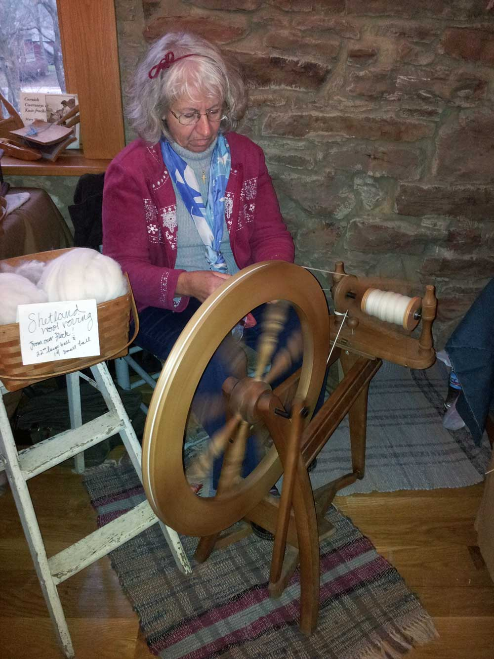 Peggy Taylor spinning