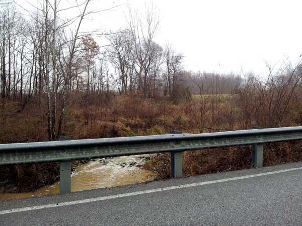 creek rushing over rocks