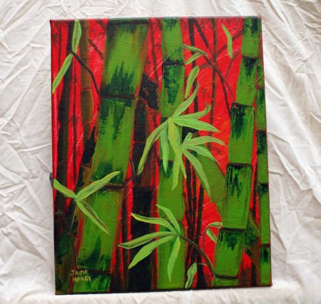 Sultry Bamboo Forest original painting on canvas