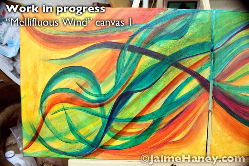 canvas 1 of Mellifluous Wind
