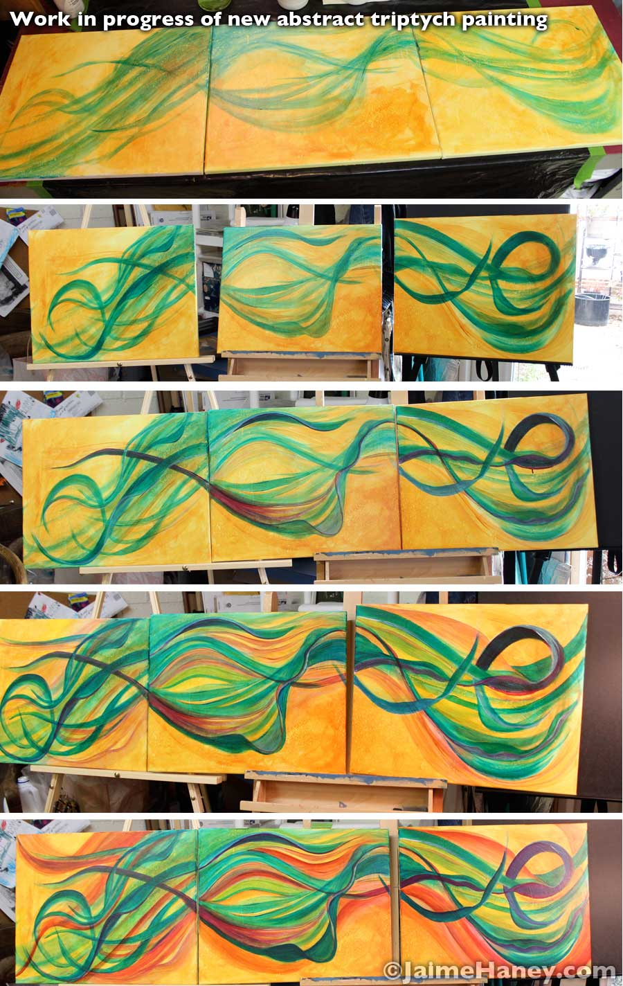 "Progression photos of ""Mellifluous Wind"""