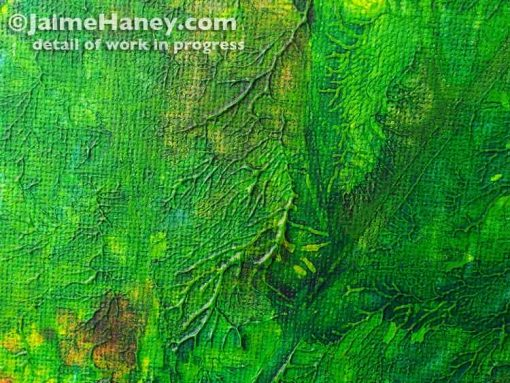 detail of Summer Memory abstract painting