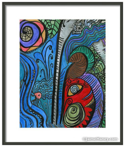 Water for Elephant matted print