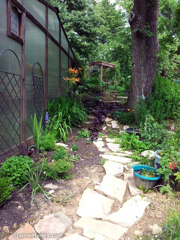 Steps leading to Studio Gardens
