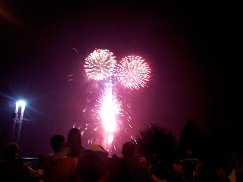 large mulitiple fireworks