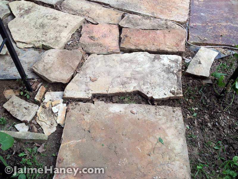 Stone-pavers-making-pathway
