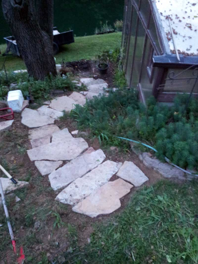 finished steps without mulch