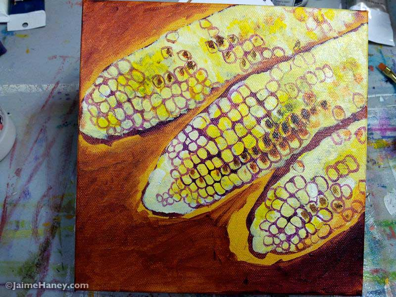 work in progress photo 6 of painted corn
