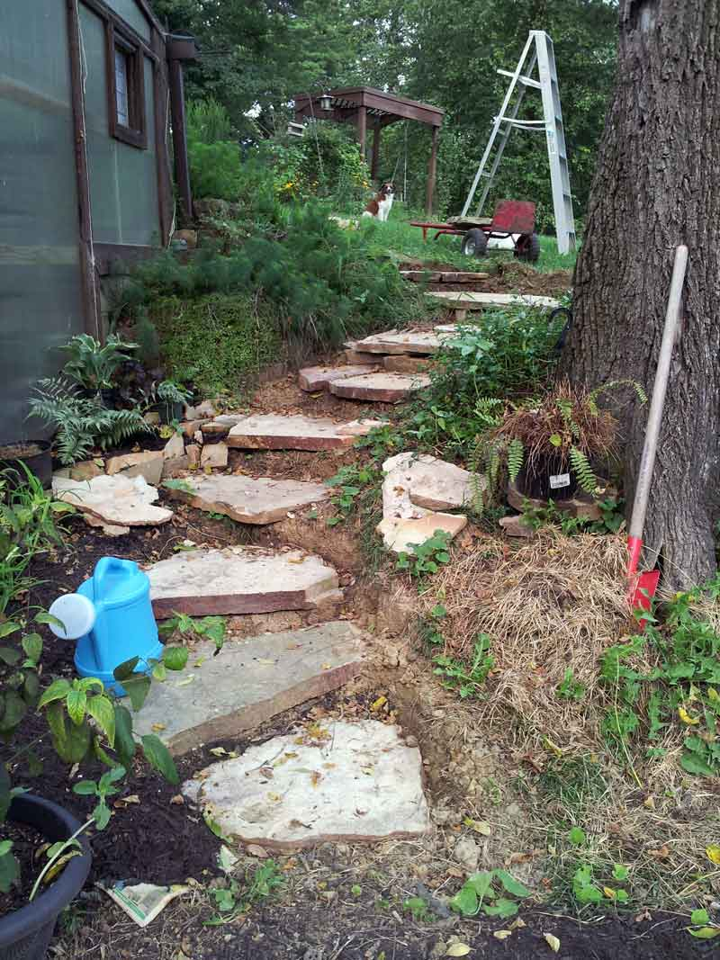 adding more stones for more steps