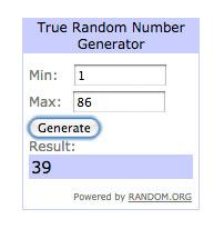 September's Random.org winner