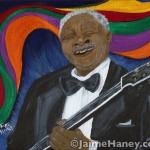 painting of Blues King B.B. King