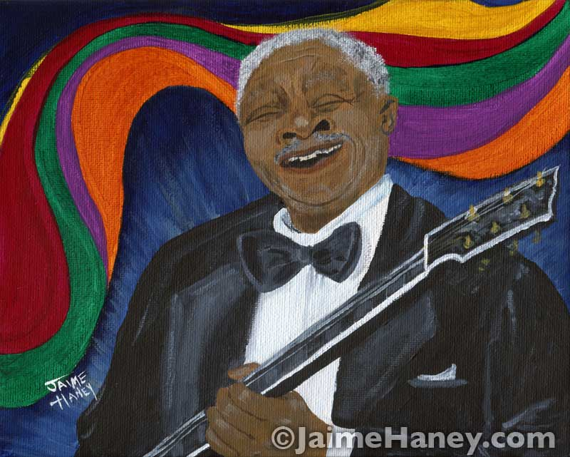 painting of B.B. King
