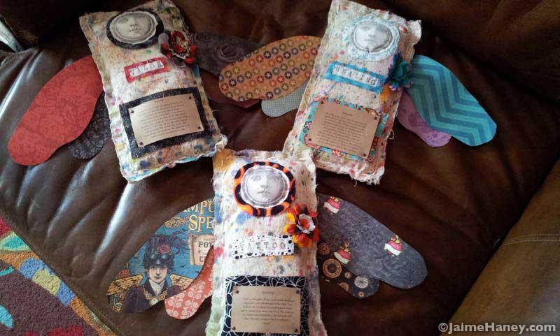 handmade angels by Patti Blakeman