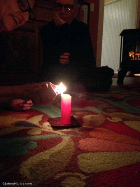 lighting wish paper