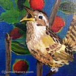 Squawking wren painting