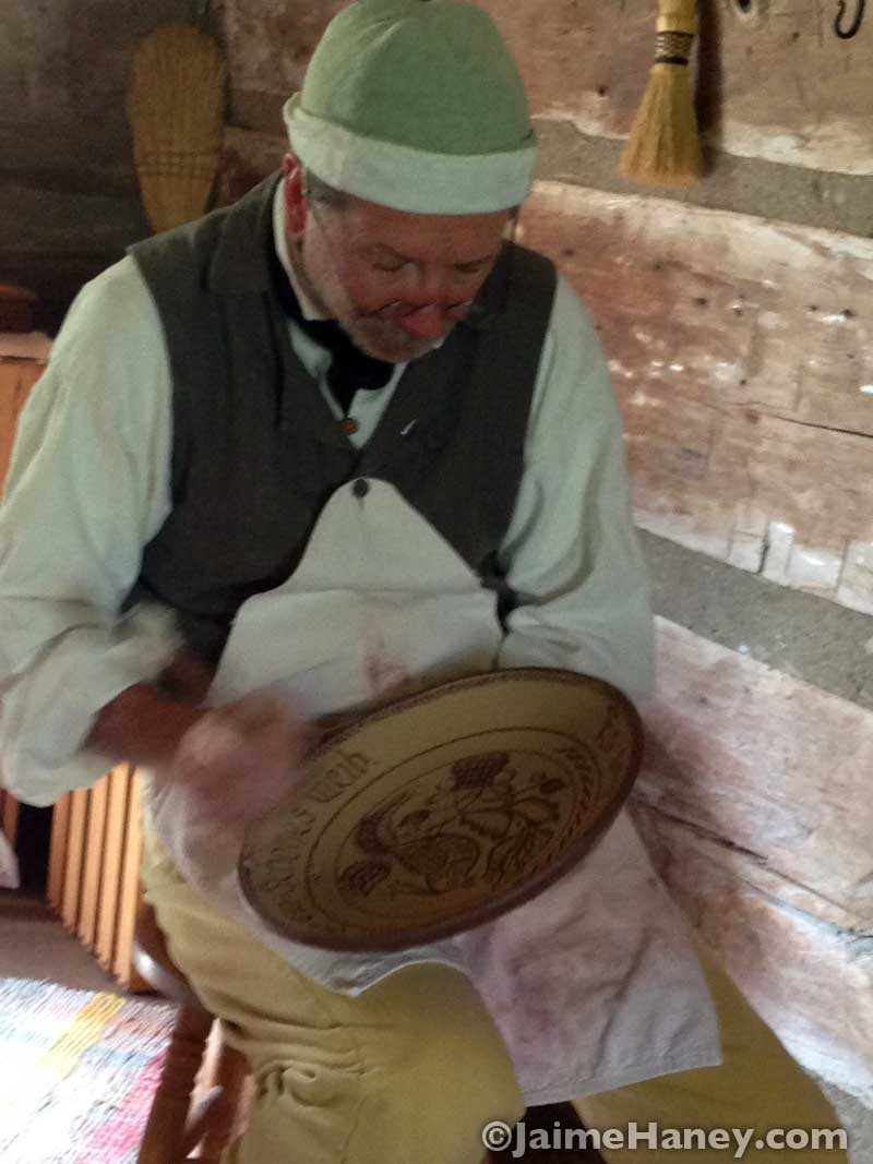 Tom Wintczak at Heritage Artisans Days in New Harmony Indiana 2016
